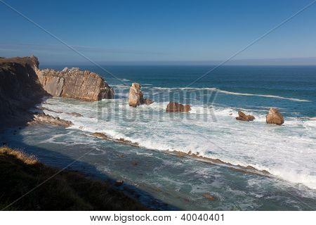 Coast In Liencres, Cantabria, Spain
