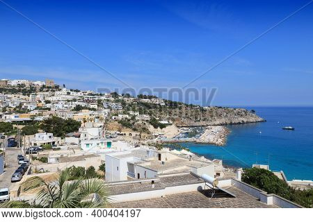 Castro In Apulia (puglia) Region Of Italy. Mediterranean Style Town.