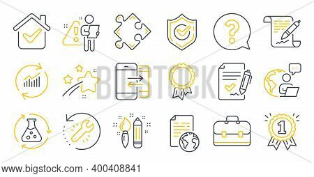 Set Of Education Icons, Such As Confirmed, Strategy, Portfolio Symbols. Approved Agreement, Agreemen