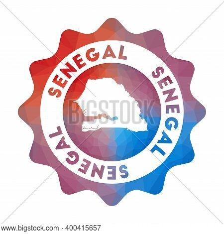 Senegal Low Poly Logo. Colorful Gradient Travel Logo Of The Country In Geometric Style. Multicolored