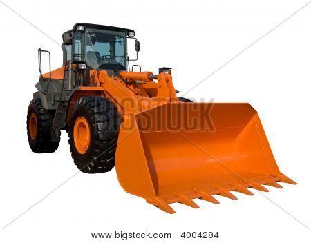 New Orange Bulldozer Isolated
