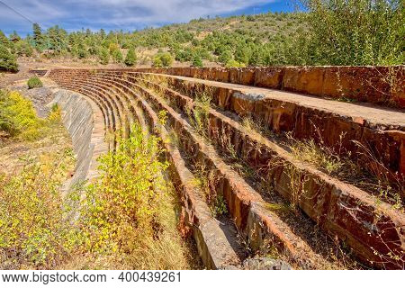 The Staircase Face Of The Santa Fe Dam In Williams Arizona Viewed From Its West Side. The Dam Is Ope
