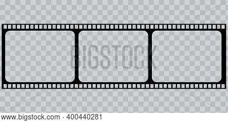 3d Film Frames Blank Background For Paper Design. Cinema Background. Vector Digital Image. Photo Fra