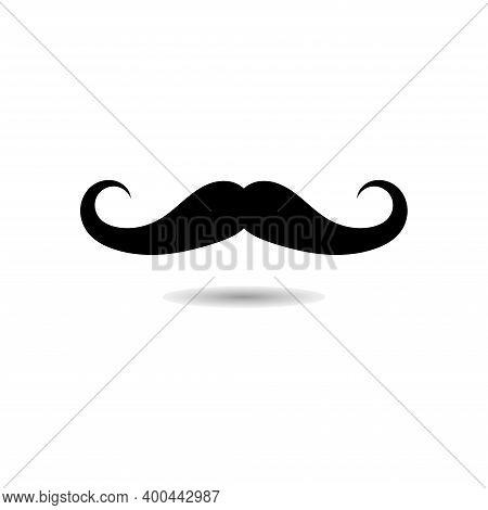Mustache Collection Vector Icon. Silhouette Mustache Sign Symbol Illustration.