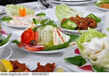 Healthy Tasty And Various Appetizers On A Dining Table Appetizers