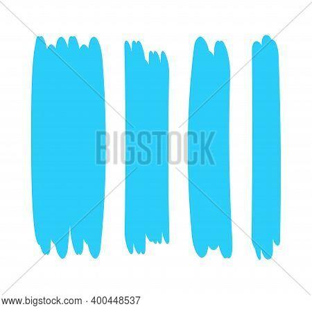 Light Blue Stripes Brush Paint For Scribble Marker, Brushstroke Painting Blue Pastel Soft Color, Lig