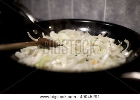 Onions In Frying Pan