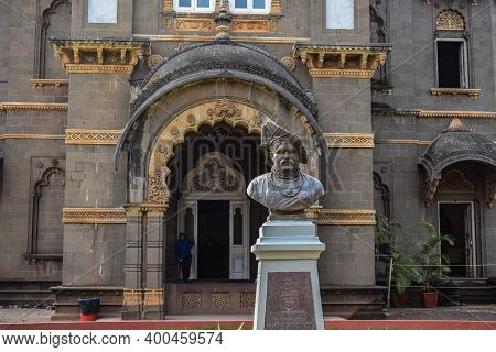 Kolhapur, Maharashtra, India- December 5th 2019;picture Of Great Maratha King Chatrapati Shahu Mahar