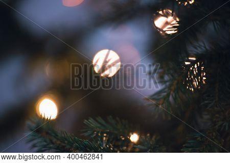 Christmas Tree Decoration Background. Christmas Holiday. Christmas Decoration Background. Christmas
