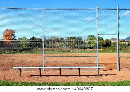 Suburban Baseball Diamond