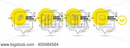 Capsule Pill, Copyright Chat And Insurance Hand Line Icons Set. Timeline Infograph Speech Bubble. Me