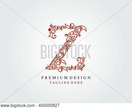 Letter Z Luxury Logo Icon, Elegant Flourishes Ornament Monogram Design Vector.