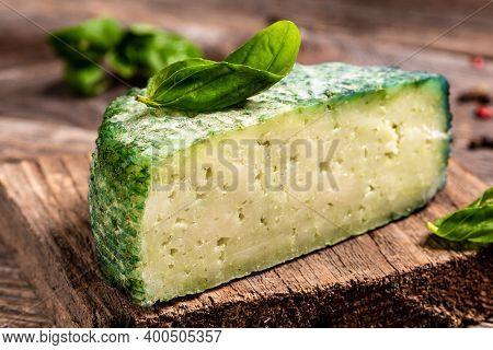 Green Pesto Cheese Pesto Rosso. Food Recipe Background. Close Up.