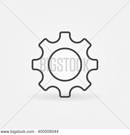 Simple Gear Or Cog Wheel Vector Concept Icon Or Symbol In Thin Line Style