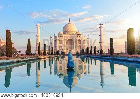 Taj Mahal Complex In Agra, Uttar Pradesh, India