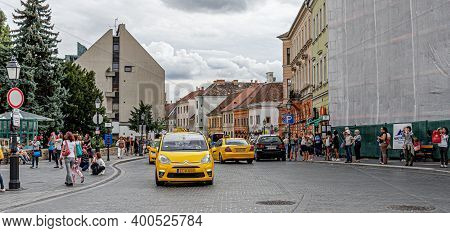 Budapest, Hungary - September 18, 2016: Old Town On Buda Hill In The City Of Budapest.