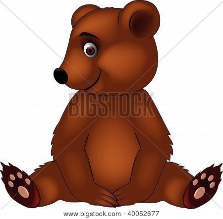 Funny Baby Bear Cartoon