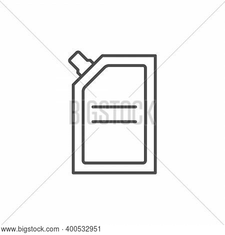 Doy Pack Package Line Outline Icon Isolated On White. Vector Illustration