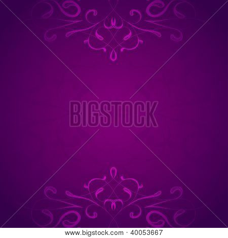 Retro styled violet floral vector background