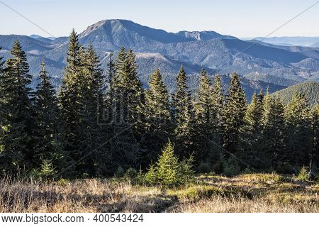Salatin Hill, Low Tatras Mountains, Slovak Republic. Hiking Theme. Seasonal Natural Scene.
