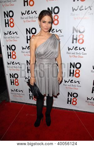 LOS ANGELES - DEC 12:  Lisa LoCicero arrives to the NOH8 4th Anniversary Party at Avalon on December 12, 2012 in Los Angeles, CA