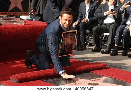 LOS ANGELES - DEC 13:  Hugh Jackman at the Hollywood Walk of Fame ceremony for Hugh Jackman on December 13, 2012 in Los Angeles, CA