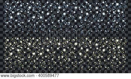 Confetti, Snow And Snowflakes Isolated On Background.