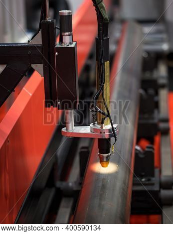 Cnc Pipe Or Tube Cutting And Beveling Machine. Industrial Metalworking