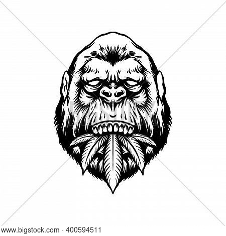 Silhouette Gorilla And Herd Clipart  For Your Work Logo Merchandise T-shirt, Stickers And Label, Pos