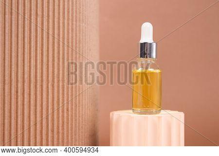 Mockup Dropper Bottle - Natural Organic Cosmetics, Hyaluronic Acid, Serum, Moisturizer Or Facial Ant