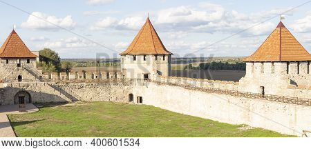 Courtyard Of An Ancient Military Fortress In Eastern Europe