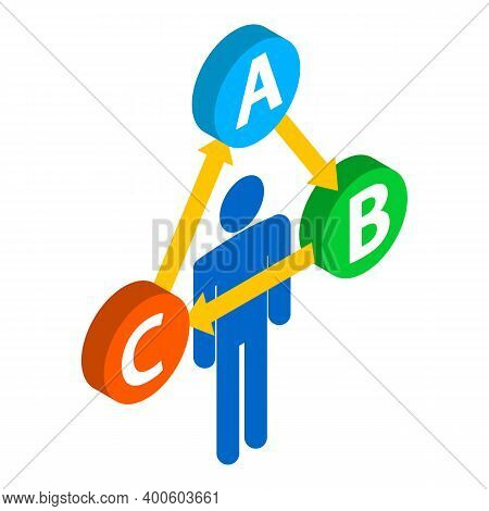 Decision Making Icon. Isometric Illustration Of Decision Making Vector Icon For Web