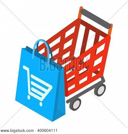 Offline Shopping Icon. Isometric Illustration Of Offline Shopping Vector Icon For Web