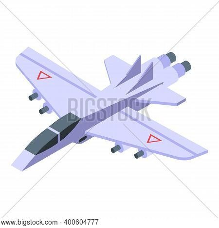 Aircraft Carrier Army Fighter Icon. Isometric Of Aircraft Carrier Army Fighter Vector Icon For Web D