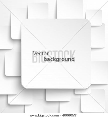 Paper square banner with drop shadows
