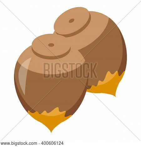 Chocolate Paste Nuts Icon. Isometric Of Chocolate Paste Nuts Vector Icon For Web Design Isolated On