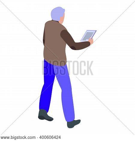 Repeat Reportage Speech Icon. Isometric Of Repeat Reportage Speech Vector Icon For Web Design Isolat