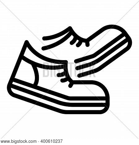 Walking Boots Icon. Outline Walking Boots Vector Icon For Web Design Isolated On White Background