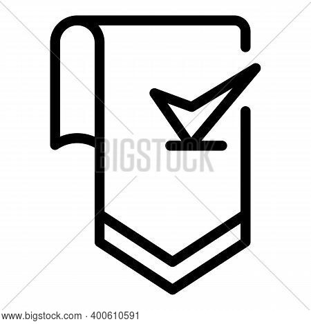 Bookmark Icon. Outline Bookmark Vector Icon For Web Design Isolated On White Background
