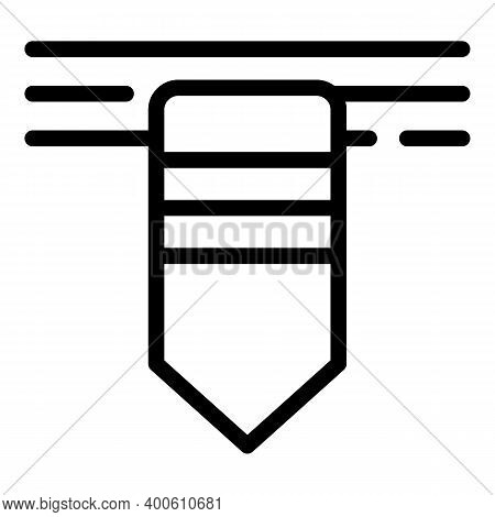 Dictionary Bookmark Icon. Outline Dictionary Bookmark Vector Icon For Web Design Isolated On White B