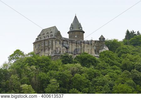 Stahleck Castle Near Bacharach, A Town In The Mainz-bingen District In Rhineland-palatinate, Germany