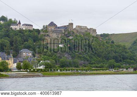 Rheinfels Castle At The Rhine Gorge Near Sankt Goar In Rhineland-palatinate, Germany