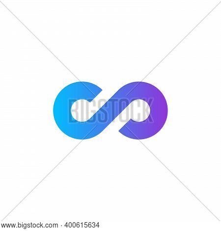 Limitless Sign Gradient Icon. Infinity Symbol Isolated On White Background Stock Vector Illustration