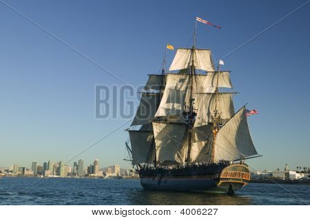 Tall Ship Under Sail