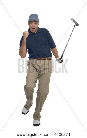 Golfer Celebration