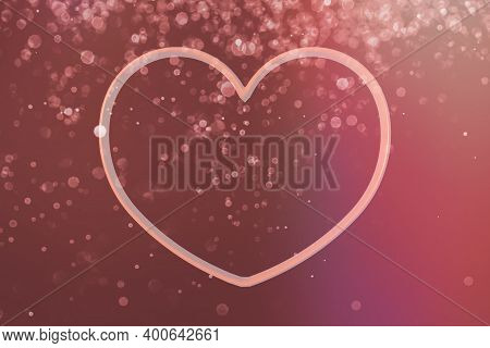 Heart Frame 3D Representation. Valentines Day. Love Concept. Space To Write