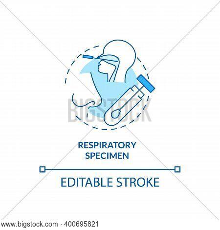 Respiratory Specimen Concept Icon. Lab Sample Idea Thin Line Illustration. Respiratory Disease Outbr