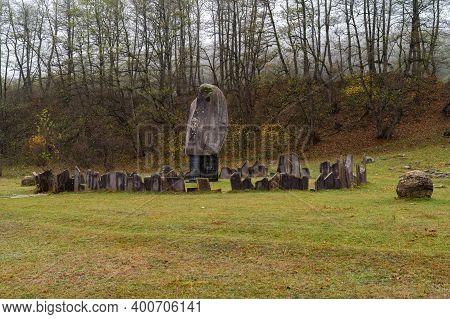 Kashhatau, Russia - Circa November 2020: Monument To The Chereksk Uprising 1913