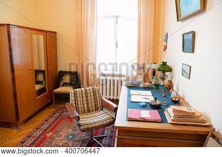 Veshenskaya, Russia - Circa October, 2020: Personal Office Of Mikhail Sholokhov