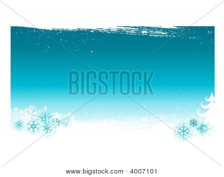 Blue Sky With Snow Flake Background